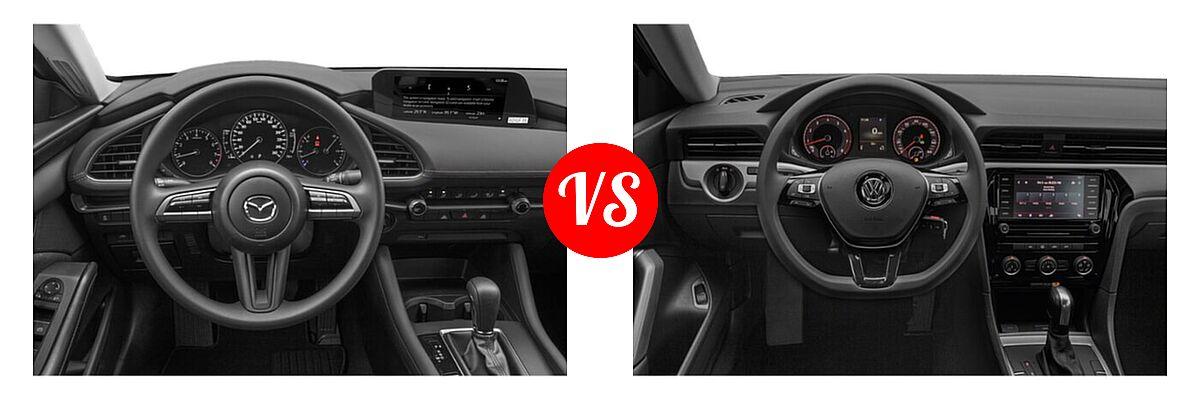 2021 Mazda 2 Sedan 2.5 S vs. 2021 Volkswagen Passat Sedan 2.0T S / 2.0T SE - Dashboard Comparison