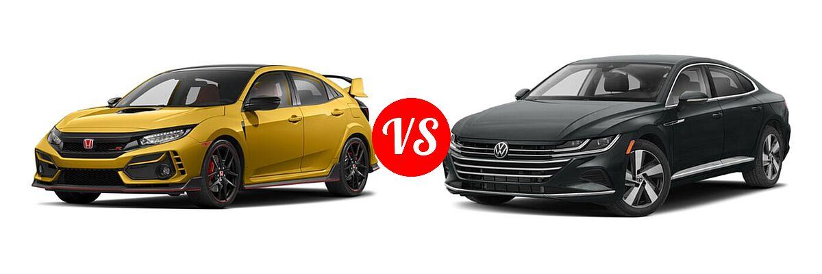 2021 Honda Civic Type R Hatchback Limited Edition vs. 2021 Volkswagen Arteon Hatchback SE - Front Left Comparison