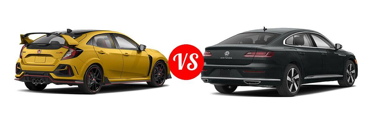 2021 Honda Civic Type R Hatchback Limited Edition vs. 2021 Volkswagen Arteon Hatchback SE - Rear Right Comparison