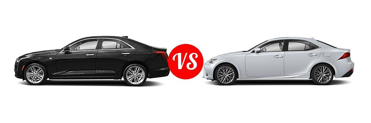 2021 Cadillac CT4 Sedan Premium Luxury vs. 2018 Lexus IS 300 Sedan IS 300 - Side Comparison