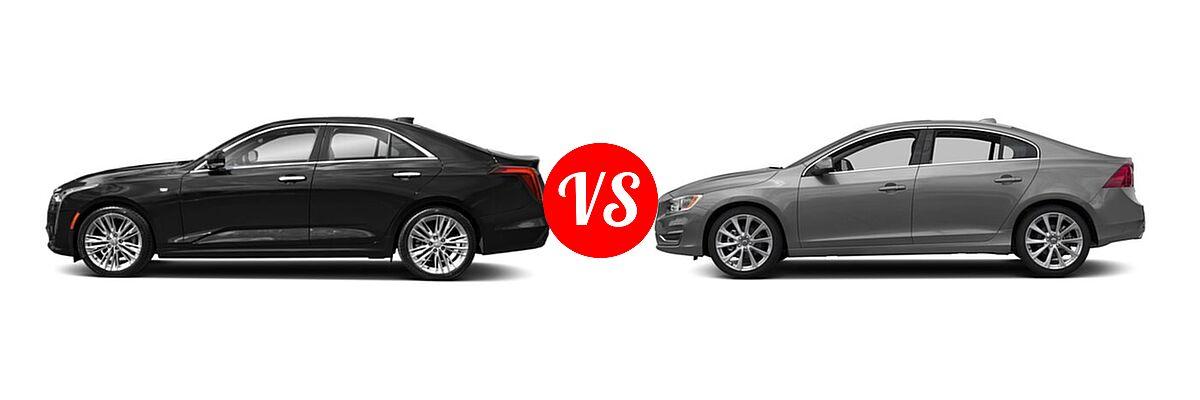 2021 Cadillac CT4 Sedan Premium Luxury vs. 2018 Volvo S60 Sedan Inscription / Inscription Platinum - Side Comparison
