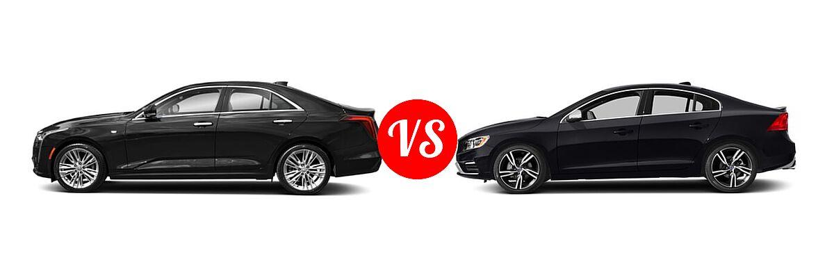 2021 Cadillac CT4 Sedan Premium Luxury vs. 2018 Volvo S60 Sedan R-Design Platinum - Side Comparison
