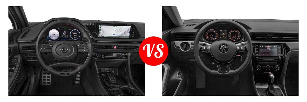 2021 Hyundai Sonata Sedan N Line vs. 2021 Volkswagen Passat Sedan 2.0T R-Line - Dashboard Comparison