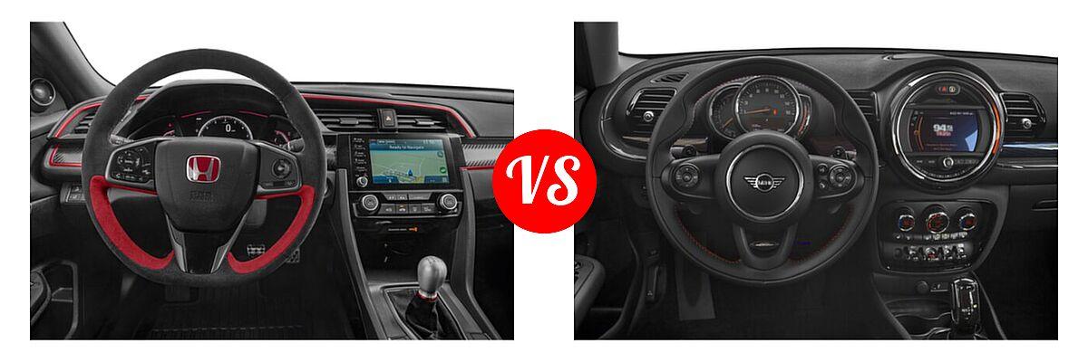 2021 Honda Civic Type R Hatchback Limited Edition vs. 2021 MINI Clubman John Cooper Works Hatchback John Cooper Works - Dashboard Comparison