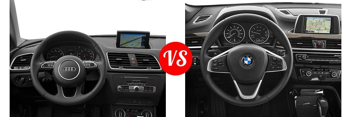 2017 Audi Q3 SUV Premium / Premium Plus / Prestige vs. 2017 BMW X1 SUV sDrive28i / xDrive28i - Dashboard Comparison