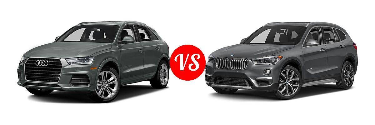2017 Audi Q3 SUV Premium / Premium Plus / Prestige vs. 2017 BMW X1 SUV sDrive28i / xDrive28i - Front Left Comparison