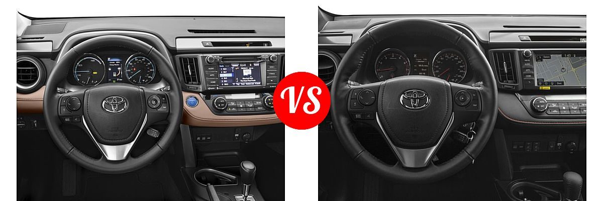 Difference Between Rav4 Le And Xle >> 2016 Toyota RAV4 Hybrid vs. 2016 Toyota RAV4 | Vehie.com