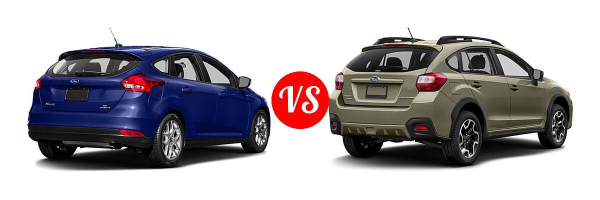 2016 Ford Focus Hatchback Se Vs 2017 Subaru Crosstrek Suv 2 0i Manual Limited