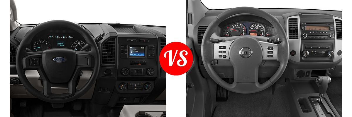 2016 Ford F-150 Pickup XL vs. 2016 Nissan Frontier Pickup S - Dashboard Comparison