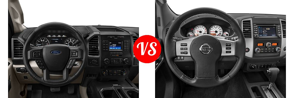 2016 Ford F-150 Pickup XLT vs. 2016 Nissan Frontier Pickup PRO-4X - Dashboard Comparison