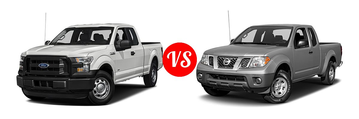 2016 Ford F-150 Pickup XL vs. 2016 Nissan Frontier Pickup S - Front Left Comparison