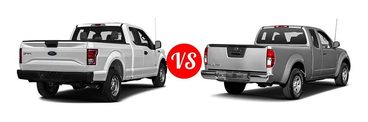 2016 Ford F-150 Pickup XL vs. 2016 Nissan Frontier Pickup S - Rear Right Comparison