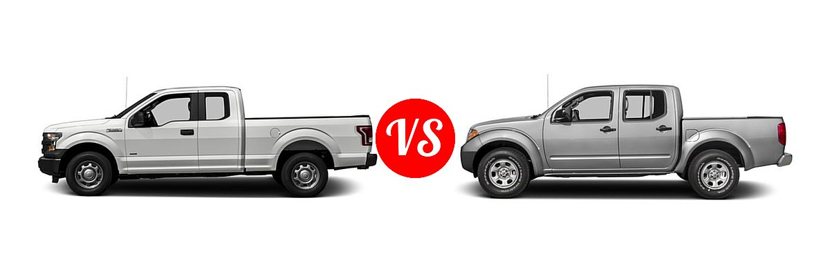2016 Ford F-150 Pickup XL vs. 2016 Nissan Frontier Pickup S - Side Comparison