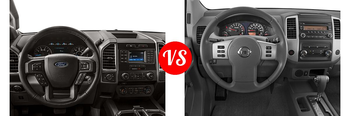 2016 Ford F-150 Pickup XLT vs. 2016 Nissan Frontier Pickup S - Dashboard Comparison