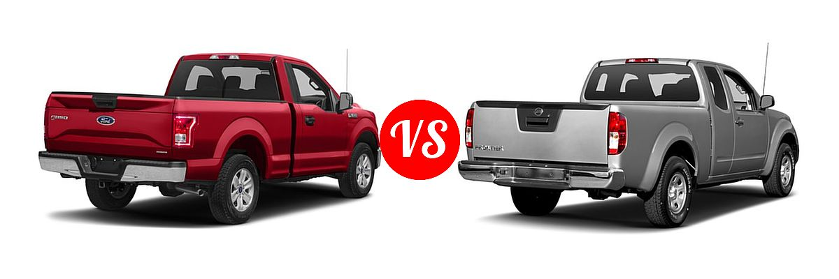 2016 Ford F-150 Pickup XLT vs. 2016 Nissan Frontier Pickup S - Rear Right Comparison