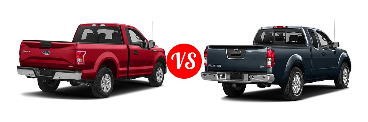 2016 Ford F-150 Pickup XLT vs. 2016 Nissan Frontier Pickup SV - Rear Right Comparison