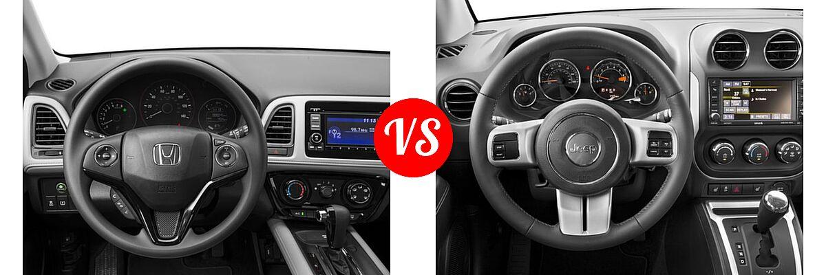 2016 Honda HR-V SUV LX vs. 2016 Jeep Compass SUV High Altitude Edition - Dashboard Comparison