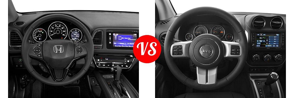 2016 Honda HR-V SUV EX-L w/Navi vs. 2016 Jeep Compass SUV 75th Anniversary / Latitude / Sport / Sport SE Pkg - Dashboard Comparison