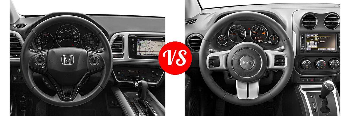 2016 Honda HR-V SUV EX-L w/Navi vs. 2016 Jeep Compass SUV High Altitude Edition - Dashboard Comparison