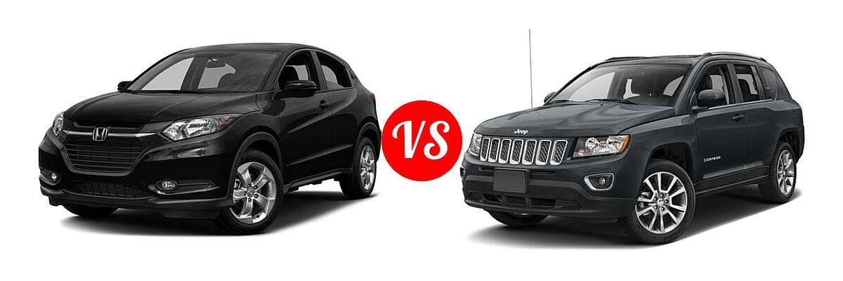 2016 Honda HR-V SUV EX vs. 2016 Jeep Compass SUV High Altitude Edition - Front Left Comparison