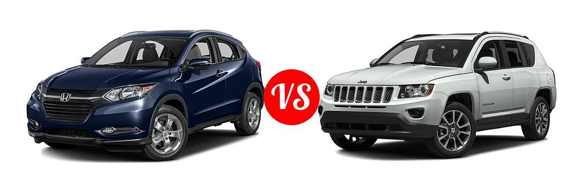 2016 Honda HR-V SUV EX-L w/Navi vs. 2016 Jeep Compass SUV 75th Anniversary / Latitude / Sport / Sport SE Pkg - Front Left Comparison