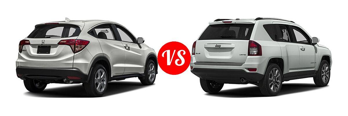 2016 Honda HR-V SUV LX vs. 2016 Jeep Compass SUV 75th Anniversary / Latitude / Sport / Sport SE Pkg - Rear Right Comparison