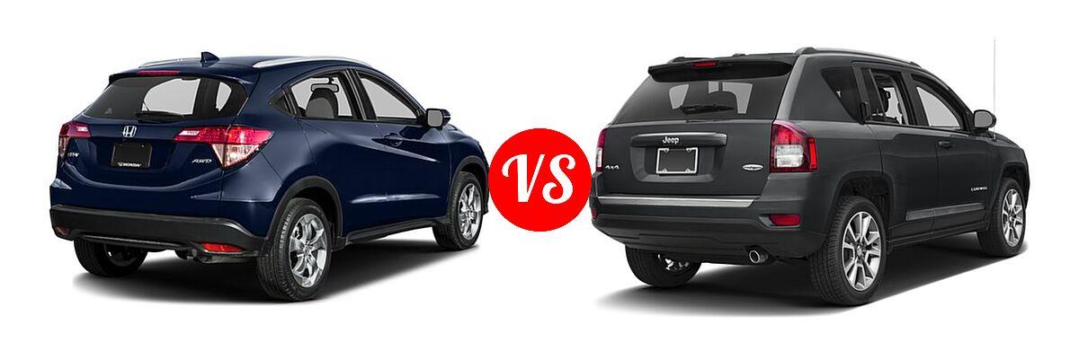 2016 Honda HR-V SUV EX-L w/Navi vs. 2016 Jeep Compass SUV High Altitude Edition - Rear Right Comparison