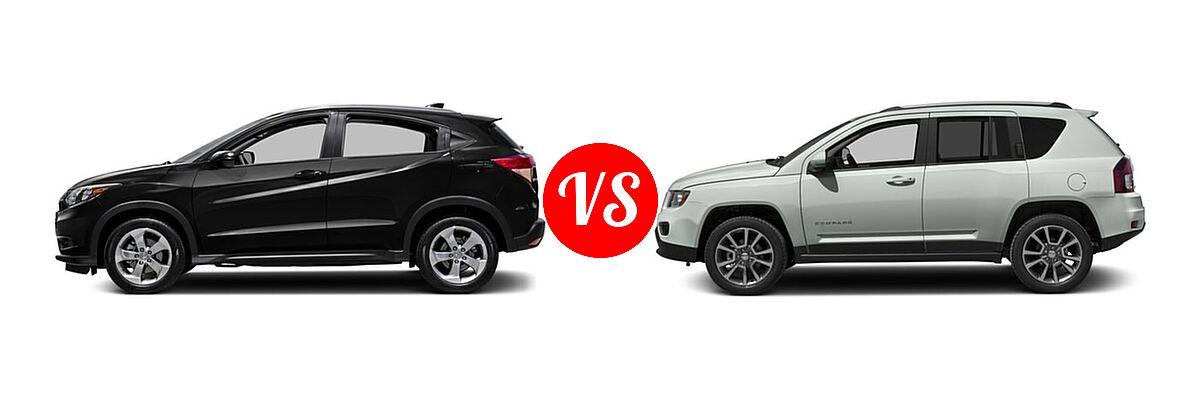 2016 Honda HR-V SUV EX-L w/Navi vs. 2016 Jeep Compass SUV 75th Anniversary / Latitude / Sport / Sport SE Pkg - Side Comparison