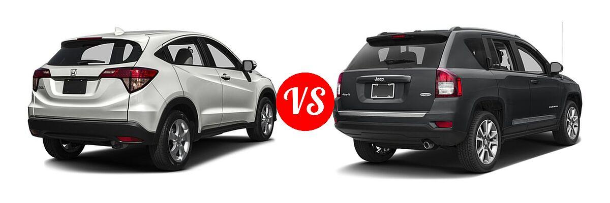2016 Honda HR-V SUV EX vs. 2016 Jeep Compass SUV High Altitude Edition - Rear Right Comparison