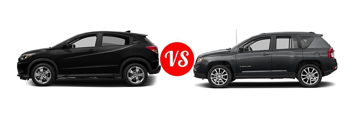 2016 Honda HR-V SUV EX vs. 2016 Jeep Compass SUV High Altitude Edition - Side Comparison