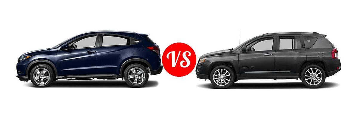 2016 Honda HR-V SUV EX-L w/Navi vs. 2016 Jeep Compass SUV High Altitude Edition - Side Comparison