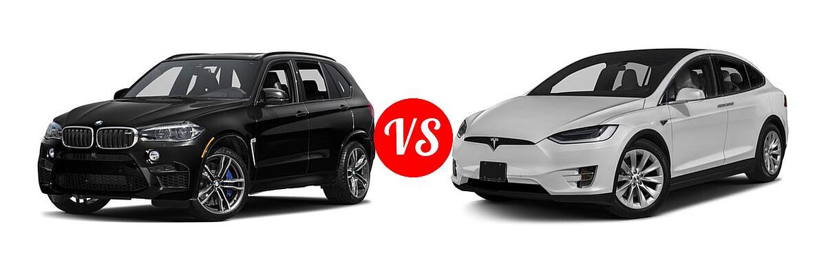 2017 BMW X5 M Vs. 2017 Tesla Model X   Front Left Comparison