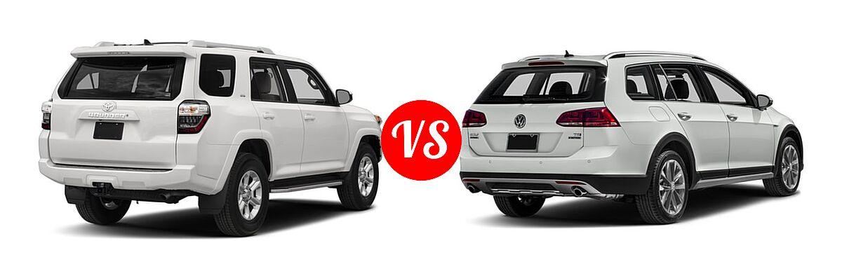 2018 Toyota 4runner Suv Sr5 Premium Vs 2017 Volkswagen Golf Alltrack Wagon S