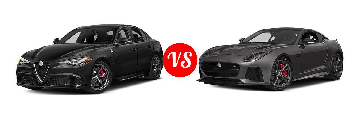 2018 alfa romeo giulia quadrifoglio vs 2017 jaguar f type coupe svr vehie. Black Bedroom Furniture Sets. Home Design Ideas