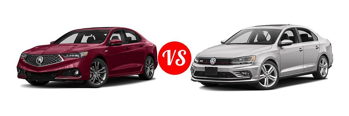 2018 Acura Tlx Vs 2016 Volkswagen Jetta 2 0t Gli Se Pzev Vehie Com