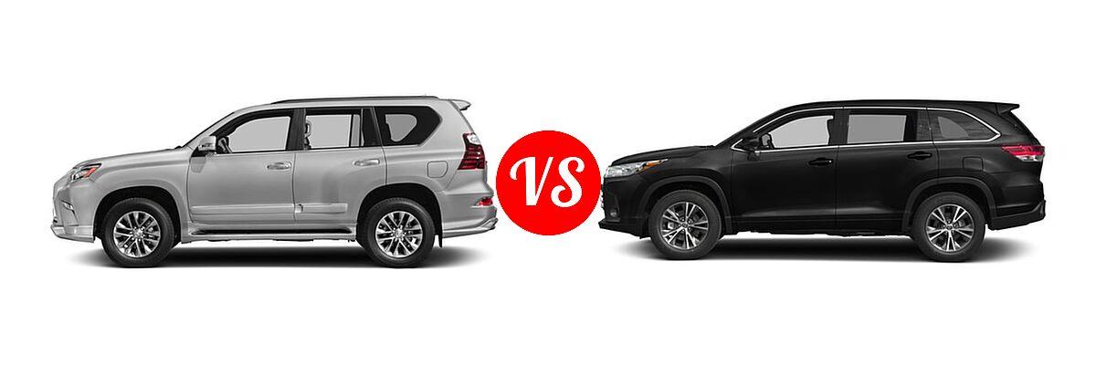 2018 Lexus GX 460 vs  2018 Toyota Highlander   Vehie com