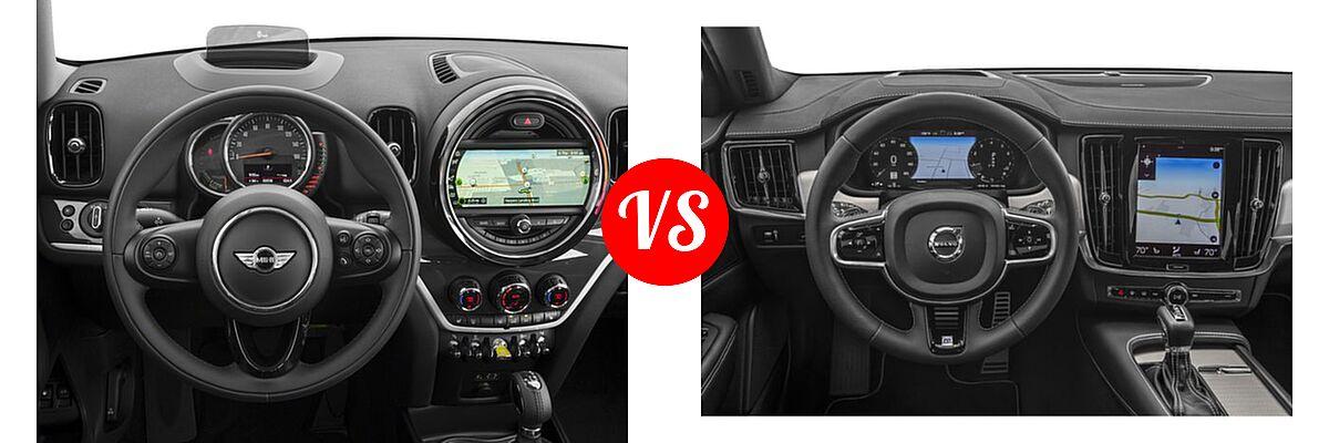 2018 MINI Countryman Wagon Hybrid Cooper S E vs. 2018 Volvo V90 Wagon R-Design - Dashboard Comparison