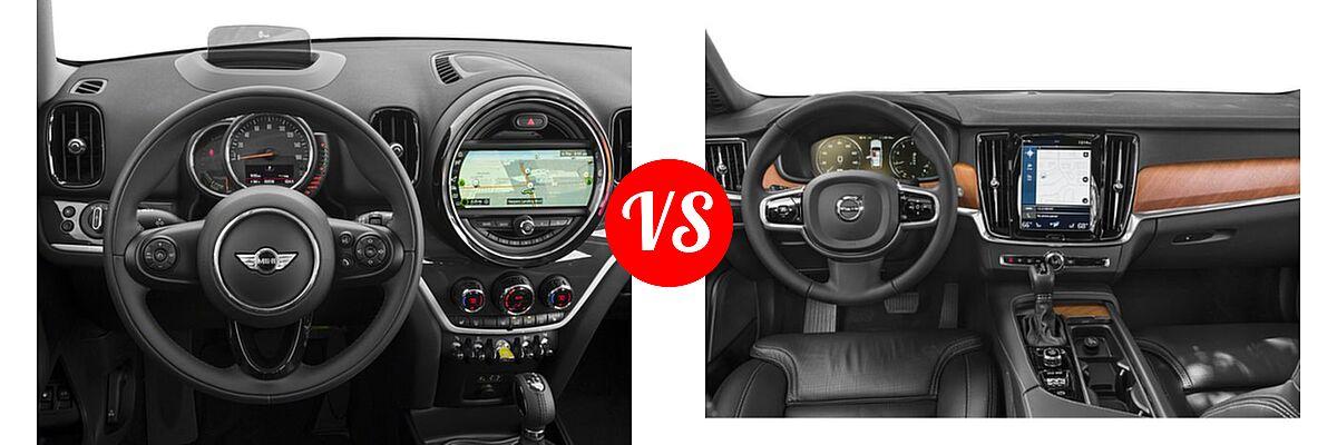 2018 MINI Countryman Wagon Hybrid Cooper S E vs. 2018 Volvo V90 Wagon Inscription / R-Design - Dashboard Comparison