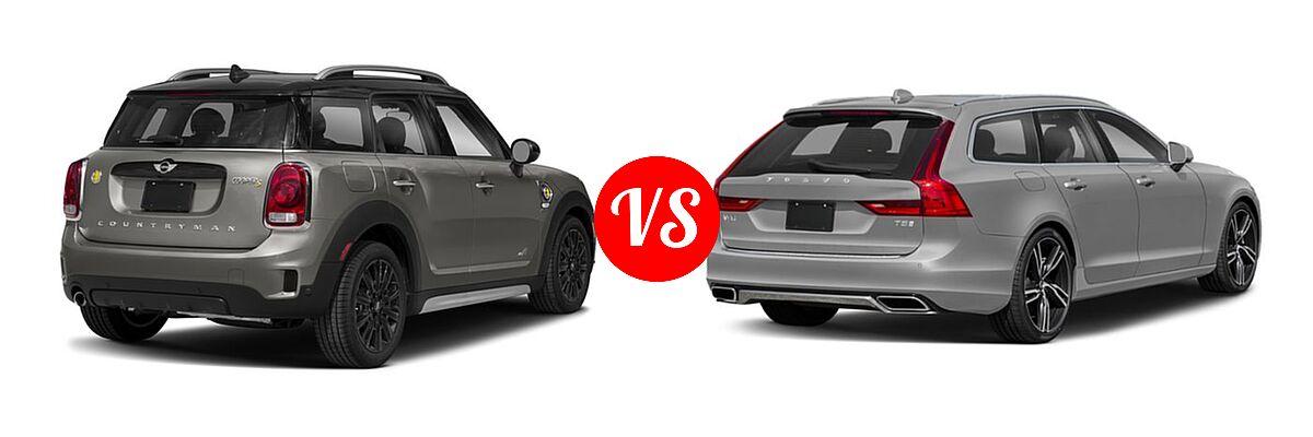 2018 MINI Countryman Wagon Hybrid Cooper S E vs. 2018 Volvo V90 Wagon R-Design - Rear Right Comparison