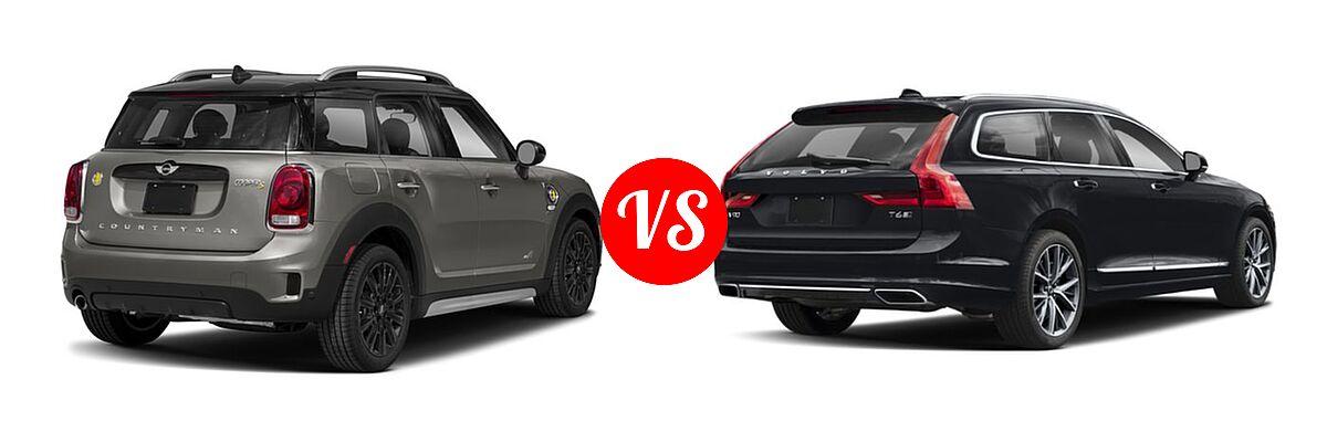 2018 MINI Countryman Wagon Hybrid Cooper S E vs. 2018 Volvo V90 Wagon Inscription / R-Design - Rear Right Comparison