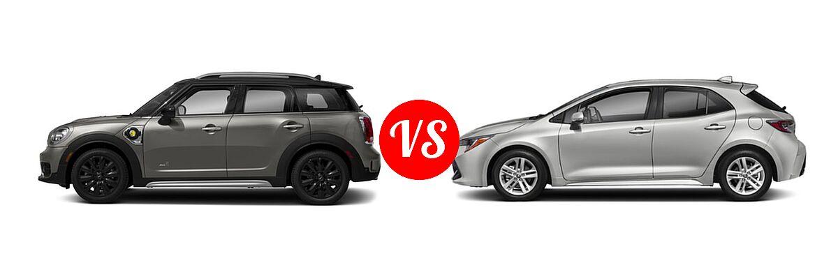 2018 Mini Countryman Hybrid Vs 2019 Toyota Corolla Hatchback Vehie