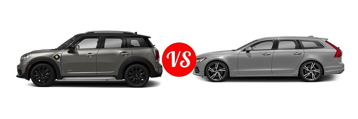 2018 MINI Countryman Wagon Hybrid Cooper S E vs. 2018 Volvo V90 Wagon R-Design - Side Comparison