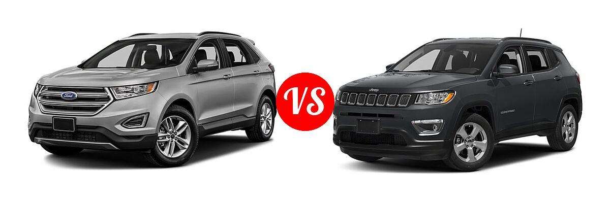 Ford Edge Vs  Jeep Compass Front Left Comparison