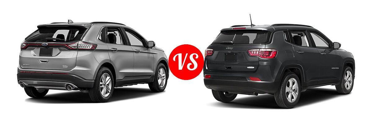 Ford Edge Vs  Jeep Compass Rear Right Comparison