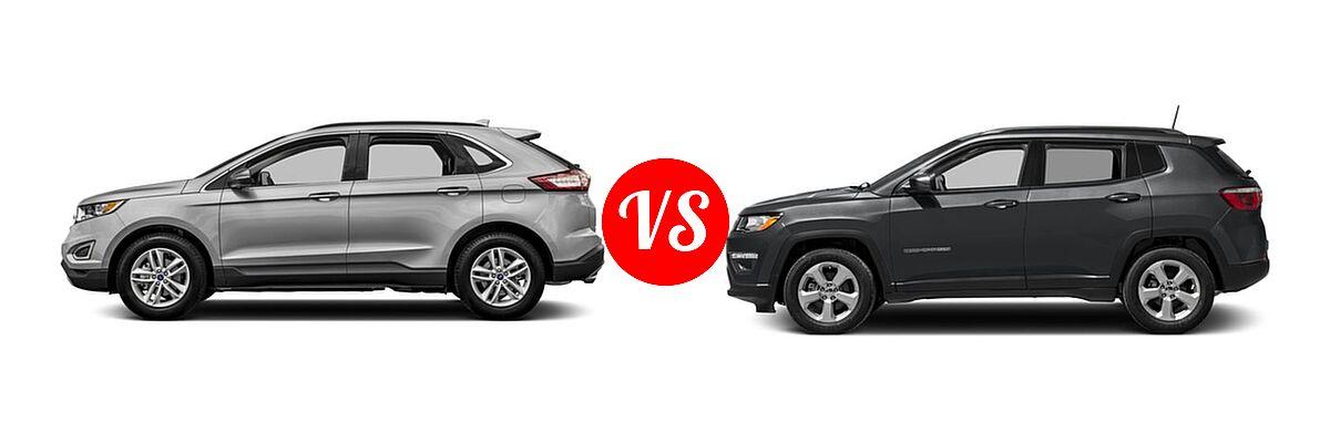 Ford Edge Vs  Jeep Compass Side Comparison