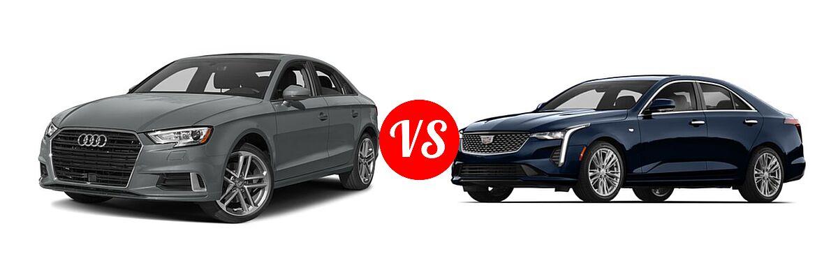 2018 Audi A3 Sedan Premium / Premium Plus / Prestige vs. 2020 Cadillac CT4 Sedan Luxury / Premium Luxury / Sport / V-Series - Front Left Comparison