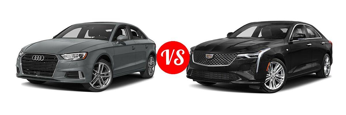 2018 Audi A3 Sedan Premium / Premium Plus / Prestige vs. 2021 Cadillac CT4 Sedan Luxury / Premium Luxury / Sport / V-Series - Front Left Comparison