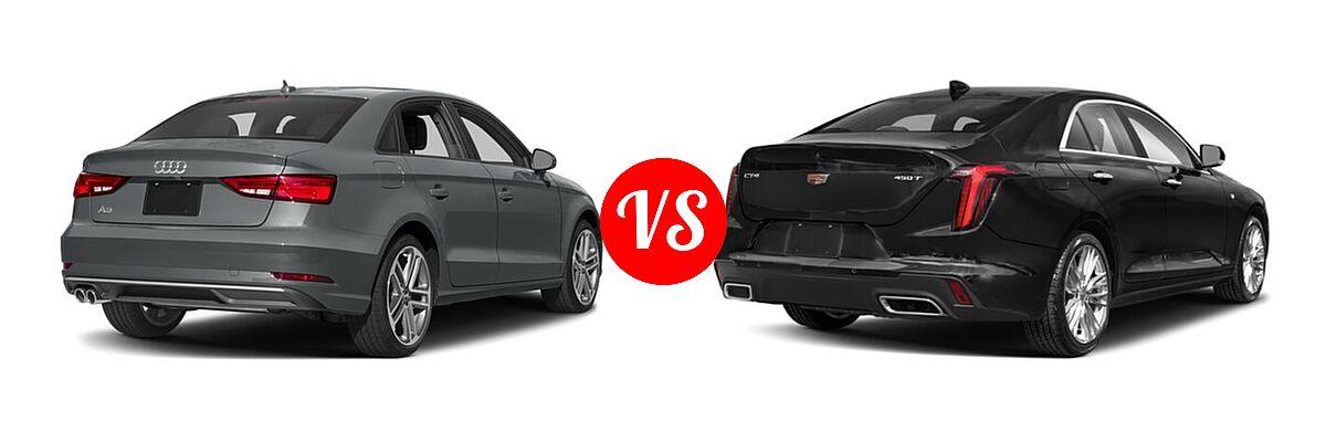 2018 Audi A3 Sedan Premium / Premium Plus / Prestige vs. 2021 Cadillac CT4 Sedan Luxury / Premium Luxury / Sport / V-Series - Rear Right Comparison