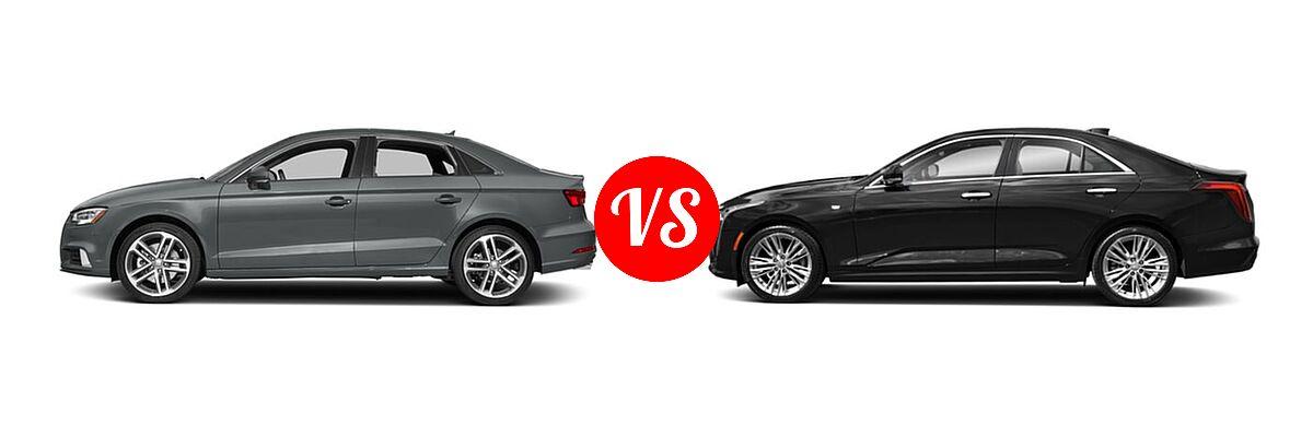 2018 Audi A3 Sedan Premium / Premium Plus / Prestige vs. 2021 Cadillac CT4 Sedan Premium Luxury - Side Comparison
