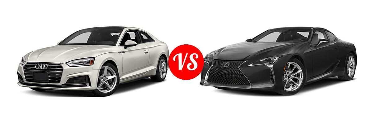 2018 Audi A5 Coupe Premium / Premium Plus / Prestige vs. 2018 Lexus LC 500 Coupe LC 500 - Front Left Comparison